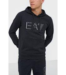 ea7 emporio armani train visibility m hoodie rn coft tröjor night blue