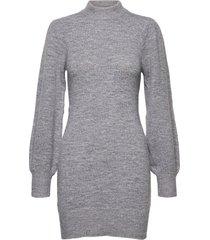kendra long knit korte jurk grijs sparkz copenhagen