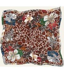 pañuelo marrón nuevas historias mix flores ba1407-15
