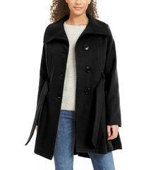 madden girl juniors' belted skirted coat