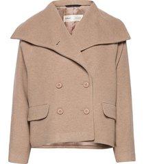 zelieiw short coat wollen jas lange jas beige inwear