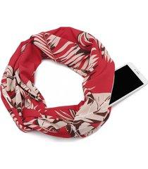 sciarpa da taschino da donna con stampa invernale invernale outdoor casual collo scaldino