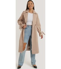 na-kd trend oversize trenchcoat - beige