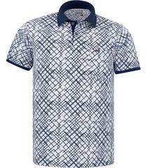 camiseta tipo polo audax con bolsillo azul oscura