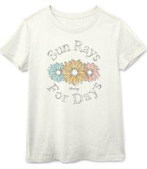 hurley juniors' sun rays for days cotton t-shirt