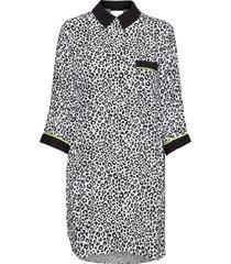 dkny wild side sleepshirt 3/4 sl pyjamas svart dkny homewear