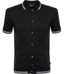 armani jeans nero black polo shirt 3y6f26