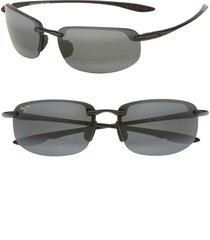 men's maui jim 'ho'okipa - 64mm polarizedplus2' reader sunglasses - black / grey