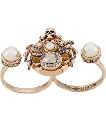 alexander mcqueen spider double ring
