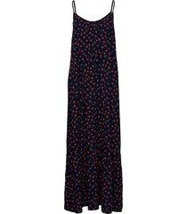 flower print sleeveless flared dress maxiklänning festklänning blå bobo choses