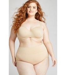 lane bryant women's level 2 slimmer high-waist full brief panty 30/32 cafe mocha