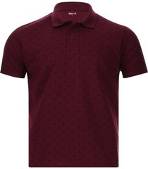 polo anclas color vino, talla l