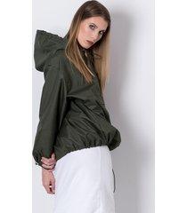 wiatrówka softshell khaki hoodie