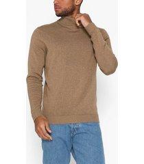 selected homme slhtower cot/silk roll neck b tröjor otter