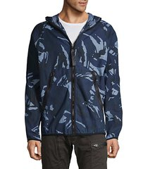 camouflage-print hooded jacket