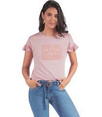 camiseta adrissa con bordado alma -ego palo de rosa