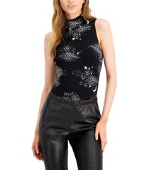 bar iii celestial-print sleeveless bodysuit, created for macy's