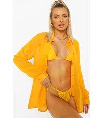 chiffon strand blouse, orange