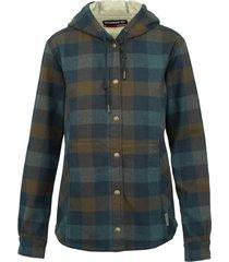 wolverine women's cheyenne bonded sherpa shirt jac dark slate plaid, size s