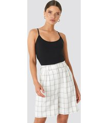 na-kd classic big check bermuda shorts - white