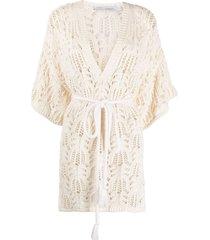 iro open-knit organic cotton-blend dress - neutrals