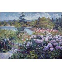 "david lloyd glover summer garden at the lake canvas art - 20"" x 25"""