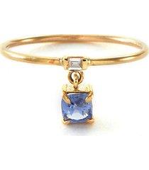 'galaxy' diamond sapphire pendant 18k gold ring