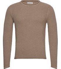 sweatshirt gebreide trui met ronde kraag beige replay
