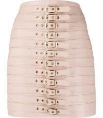 manokhi buckle-fastening high-waisted skirt - pink