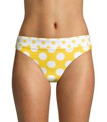 reversible dot-print hipster bikini bottom