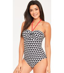 juno twist bandeau tummy control one-piece swimsuit d-g cup