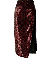 n.21 fabric longuette skirt w/ paillettes