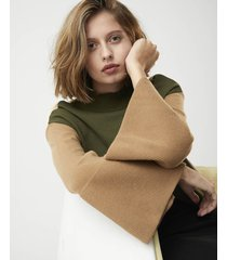 sweater verde system tricolor puf