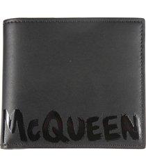 alexander mcqueen 4cc logo wallet