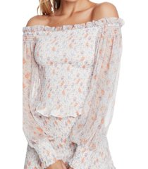 1.state floral-print off-the-shoulder top