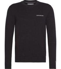 chest logo sweater negro calvin klein