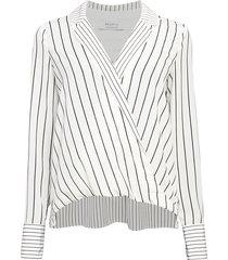 bailey 44 women's sloane stripe wrap top - creme - size xs