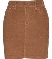 curvy cord mini kort kjol brun hollister