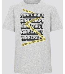 minecraft t-shirt i bomull - melerad grå