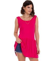 blusa manola regata pink multicolorido