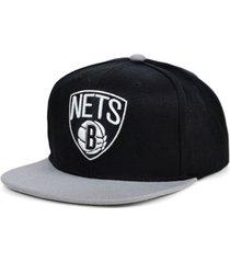 mitchell & ness brooklyn nets 2 tone classic snapback cap