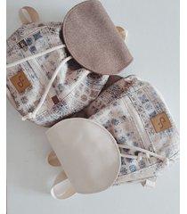 orientalny plecak / small casual cream