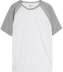 camiseta hombre manga ranglan color gris, talla l