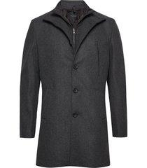 ontario wollen jas lange jas zwart bruun & stengade