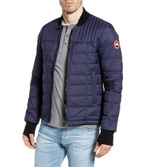 men's canada goose dunham slim fit packable down jacket, size small - blue
