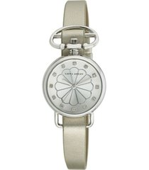 laura ashley ladies' silver heirloom watch
