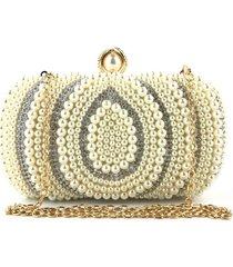 bolsa clutch liage festa bordada pedra brilhante strass perola pedraria metal dourado