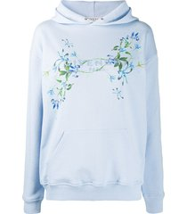 givenchy floral-print hoodie - blue