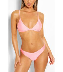 mix & match itsy bitsy bikini top, coral