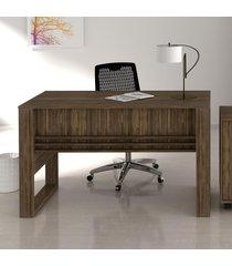 mesa para escritório me4146 nogal - tecno mobili
